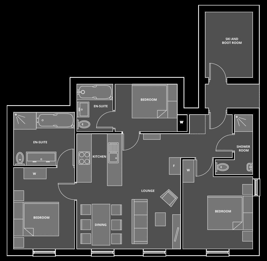 Apartment 6˚ Floor Plan
