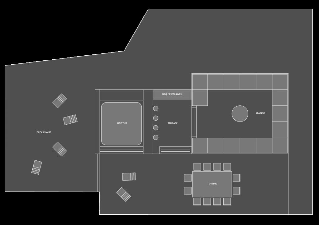 Chalet 46˚ Floor Plan